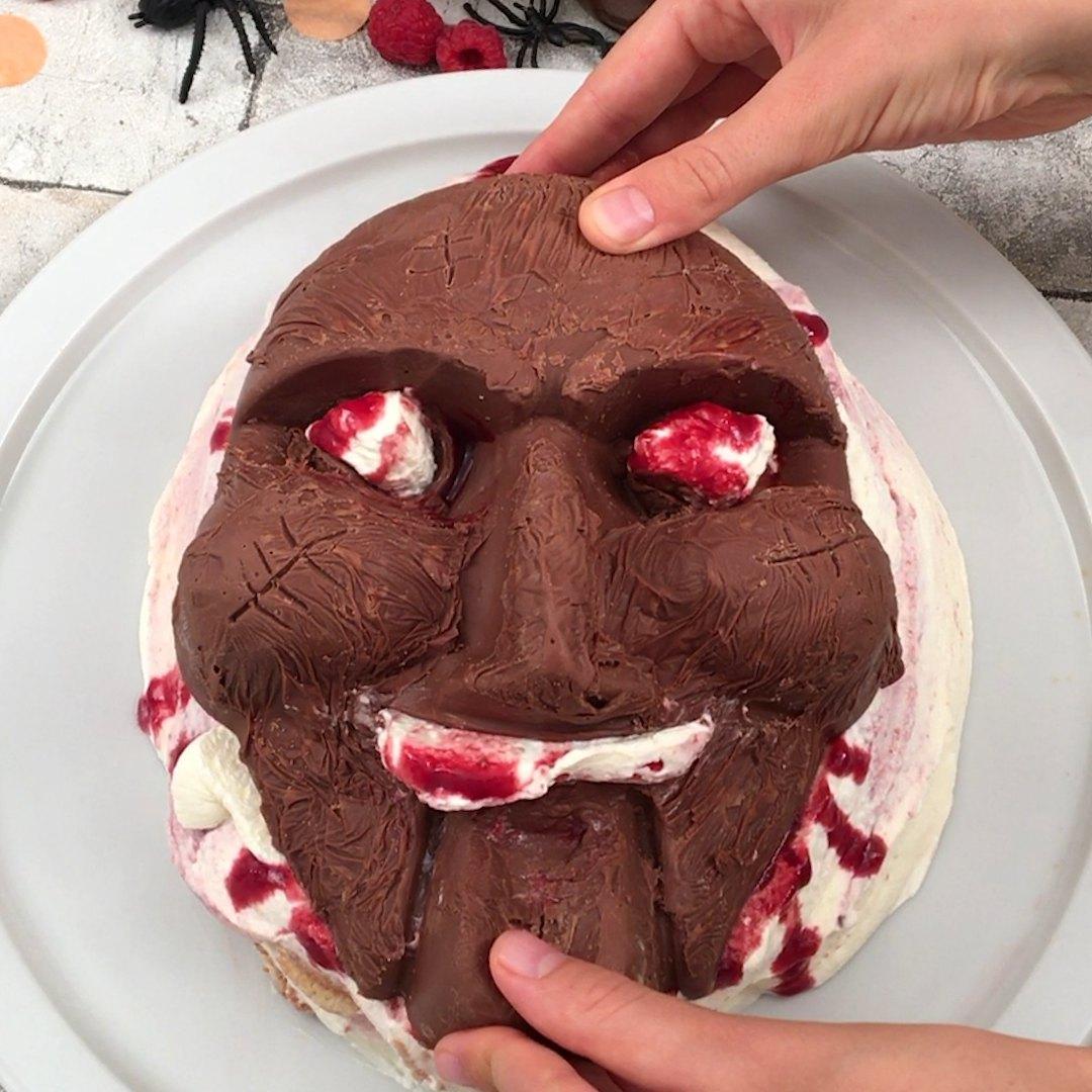 Tiramisu masque d'Halloween