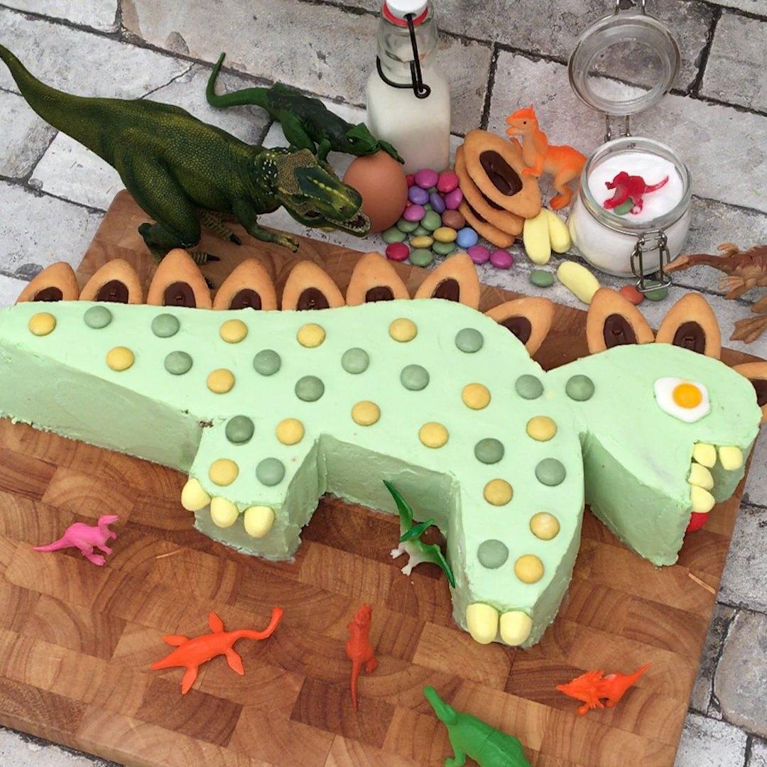 Der Einfache Dino Kuchen Fur Den Kindergeburtstag 15