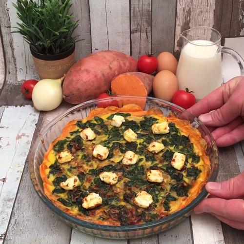 Spinach & Feta Sweet Potato Pie
