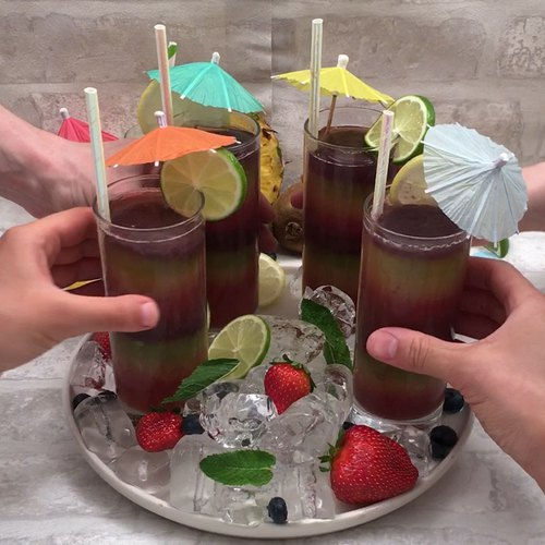Frozen Rainbow Cocktails