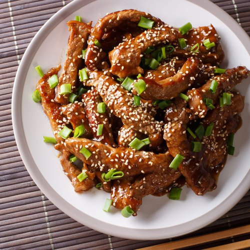 Chinese beef & onions