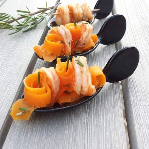 Bouchée de crevettes et carottes