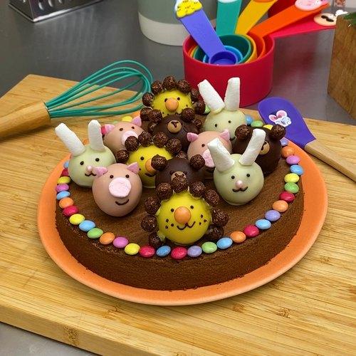 Le gâteau au chocolat des animaux