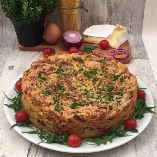 Gâteau de spaghetti fondant