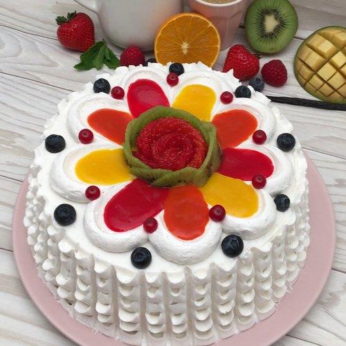 Gâteau glacé fruité