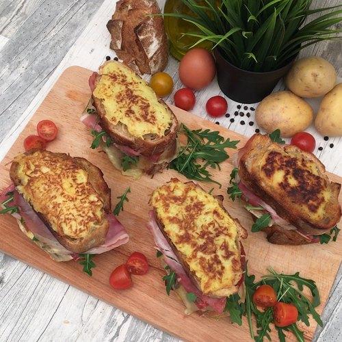 Schinken-Käse-Sandwich Deluxe