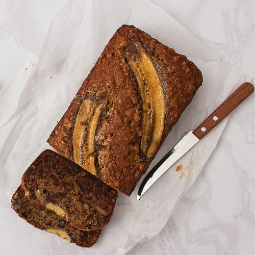 Extra moist banana bread: the healthy recipe
