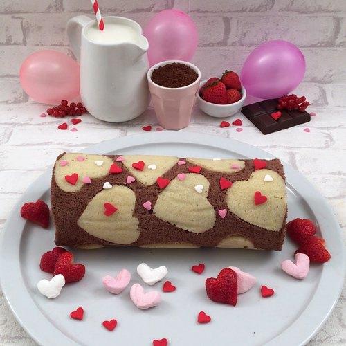 Le gâteau roulé de l'amour