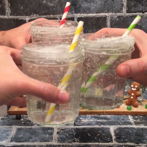 Schneekugel-Cocktail