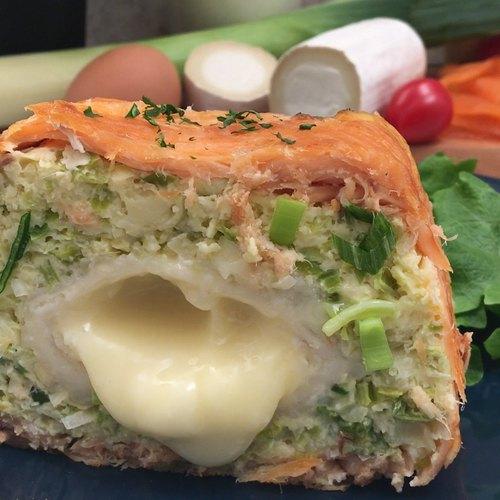 La terrine saumon-poireaux