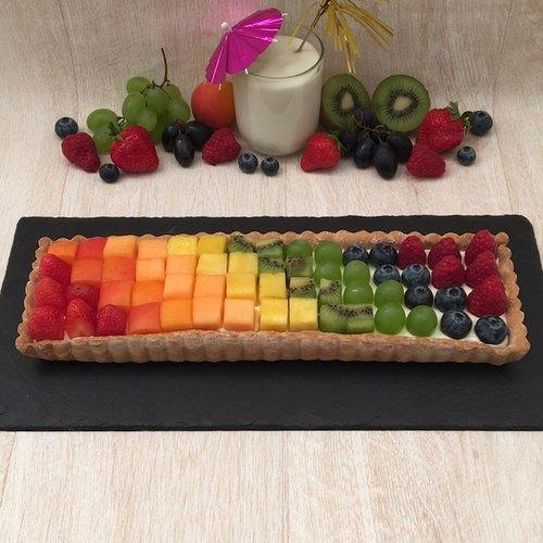 Tarte fruits arc-en-ciel