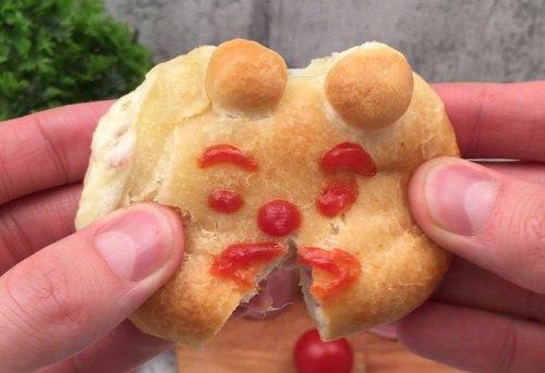 Bärchen-Pizzabrötchen