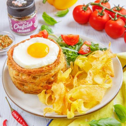 Sandwich tian et ses chips croustillantes