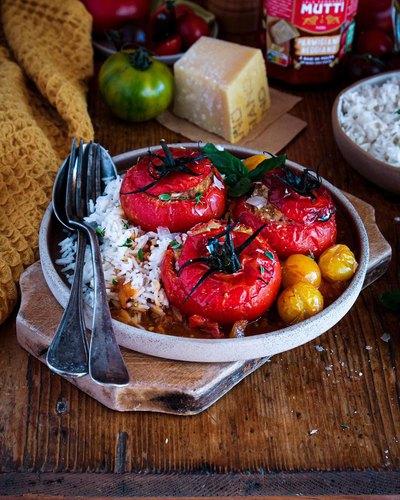 Tomates farcies et riz basmati