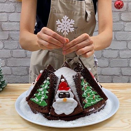 Gâteau au chocolat sapin de Noël