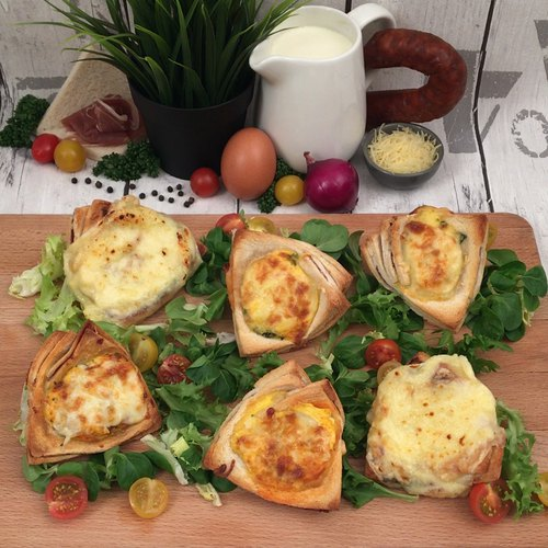 Mini croque-quiche