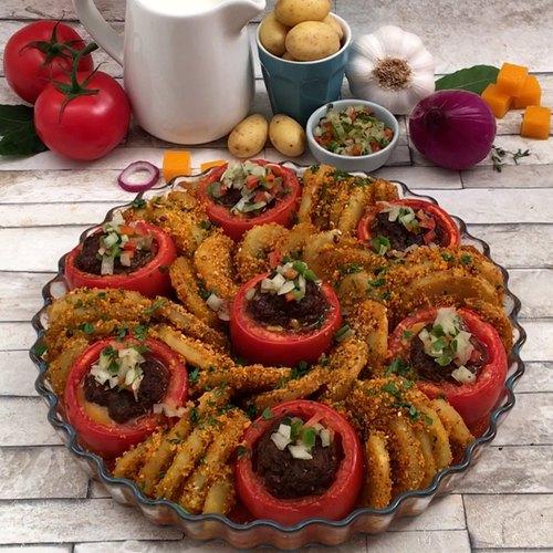 Tomates farcies express à la mexicaine