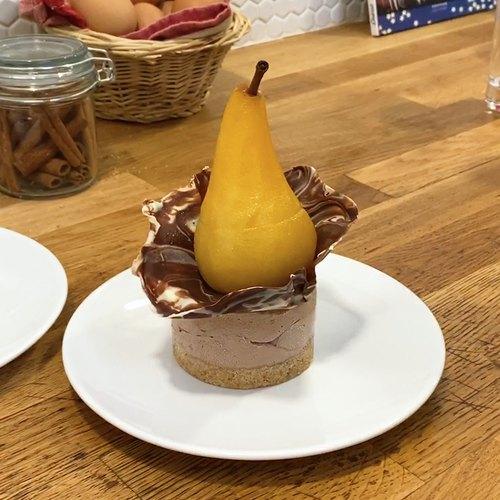 Dessert poire triple chocolat