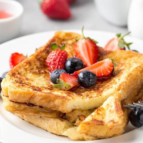 Fluffy caramelized french toast