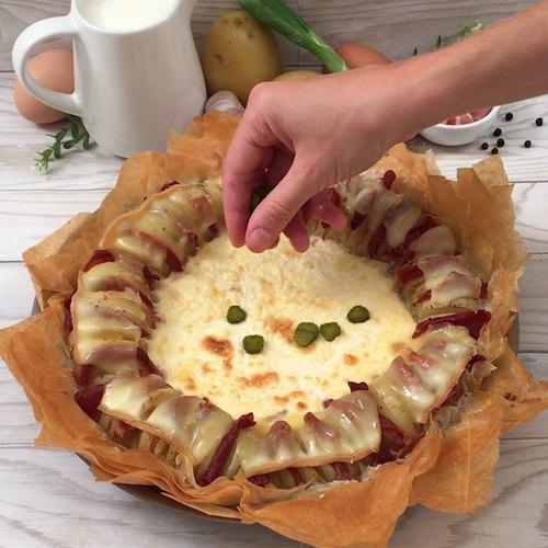 Quiche raclette croustillante