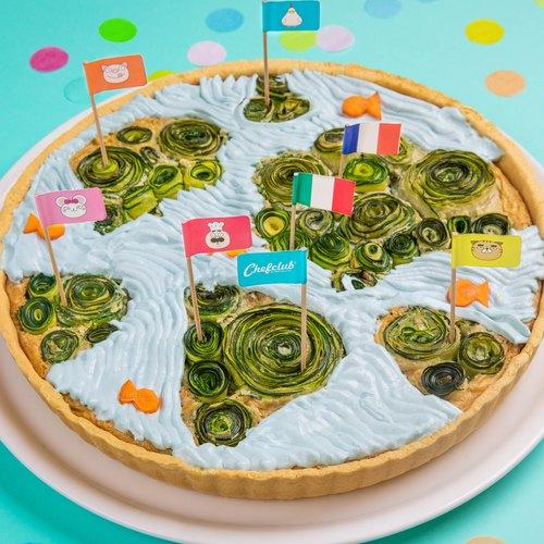 La quiche carte du monde