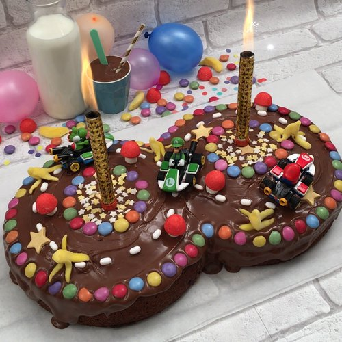 Cool Recipe Mario Kart Cake Personalised Birthday Cards Sponlily Jamesorg