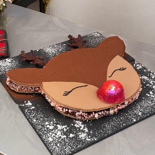 Macaron géant de Noël