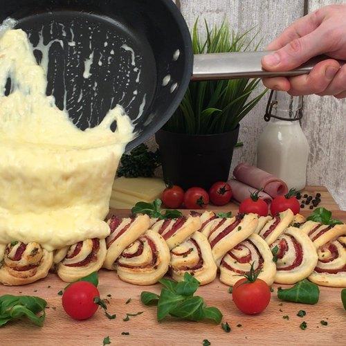 Käse-Schinken-Zopf!