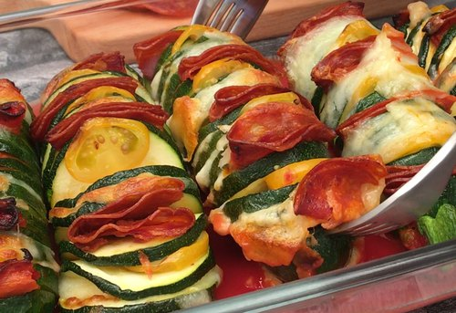 Hassleback Courgette