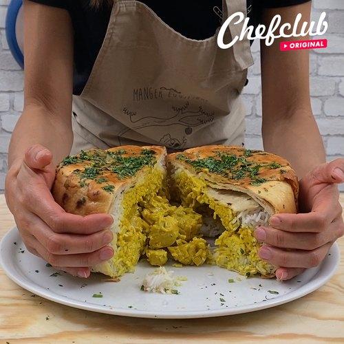 Le naan surprise poulet au curry facile