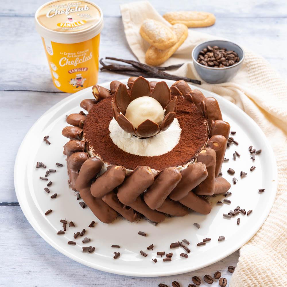 Pavê de chocolate e sorvete