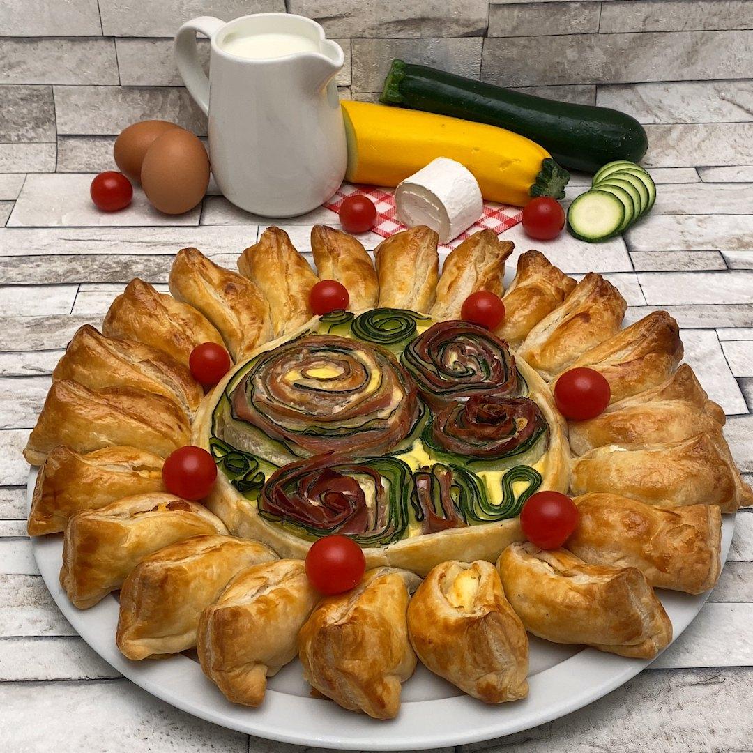 Herzhafter Zucchini-Kuchen