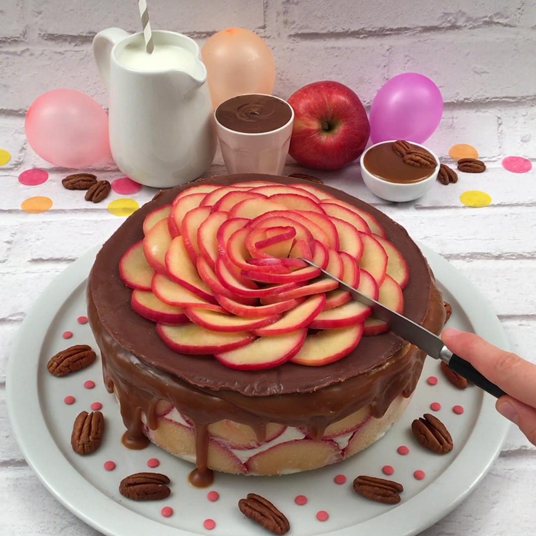 Torta de maçã gelada