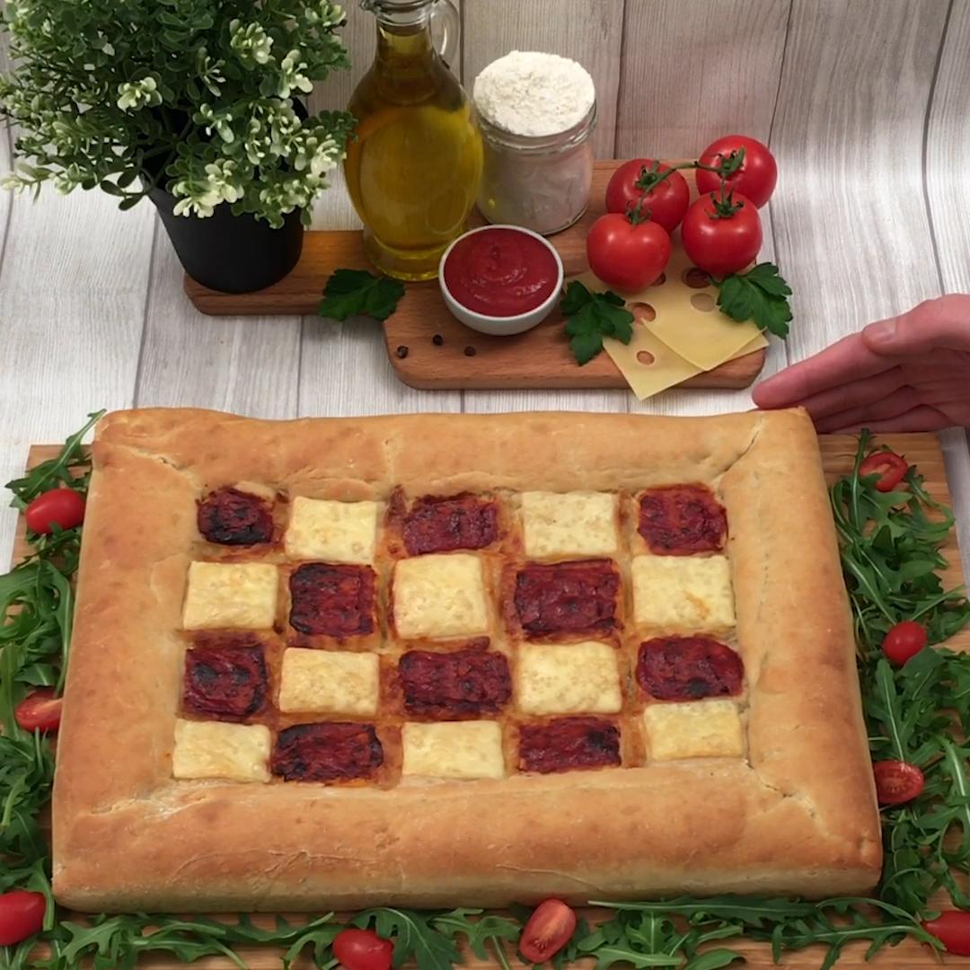 La pizza de tablero de ajedrez!