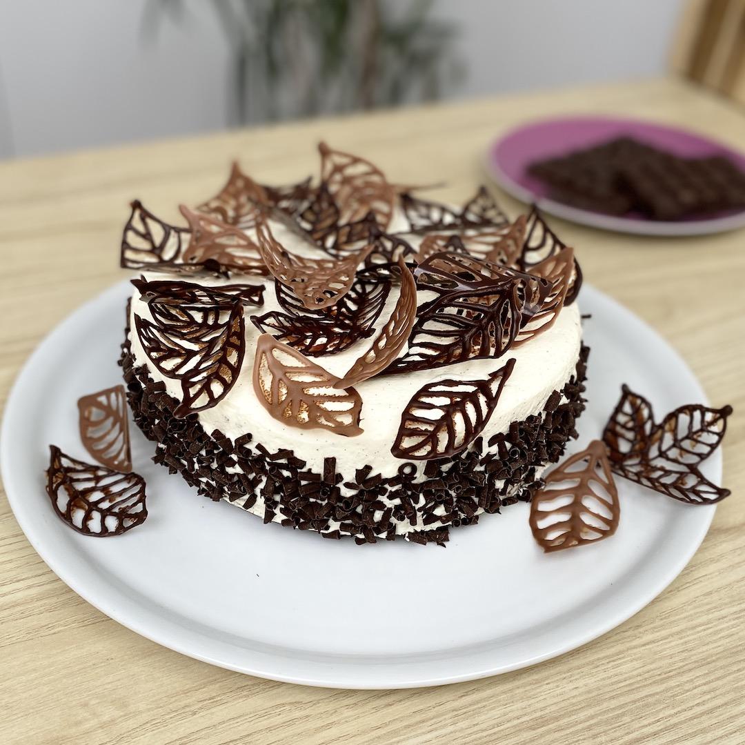 나뭇잎 초코 케이크