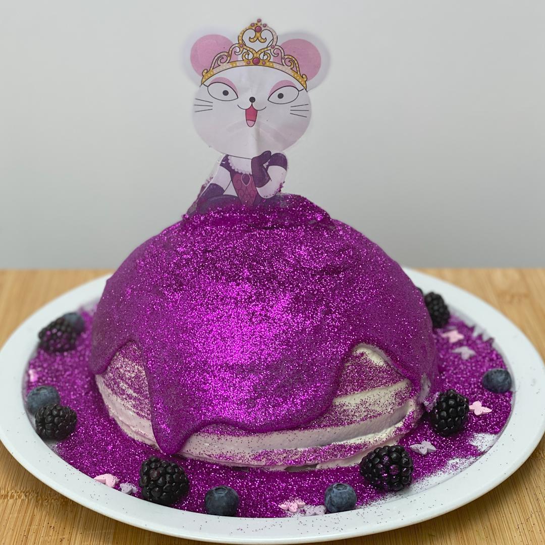 La gâteau robe de princesse