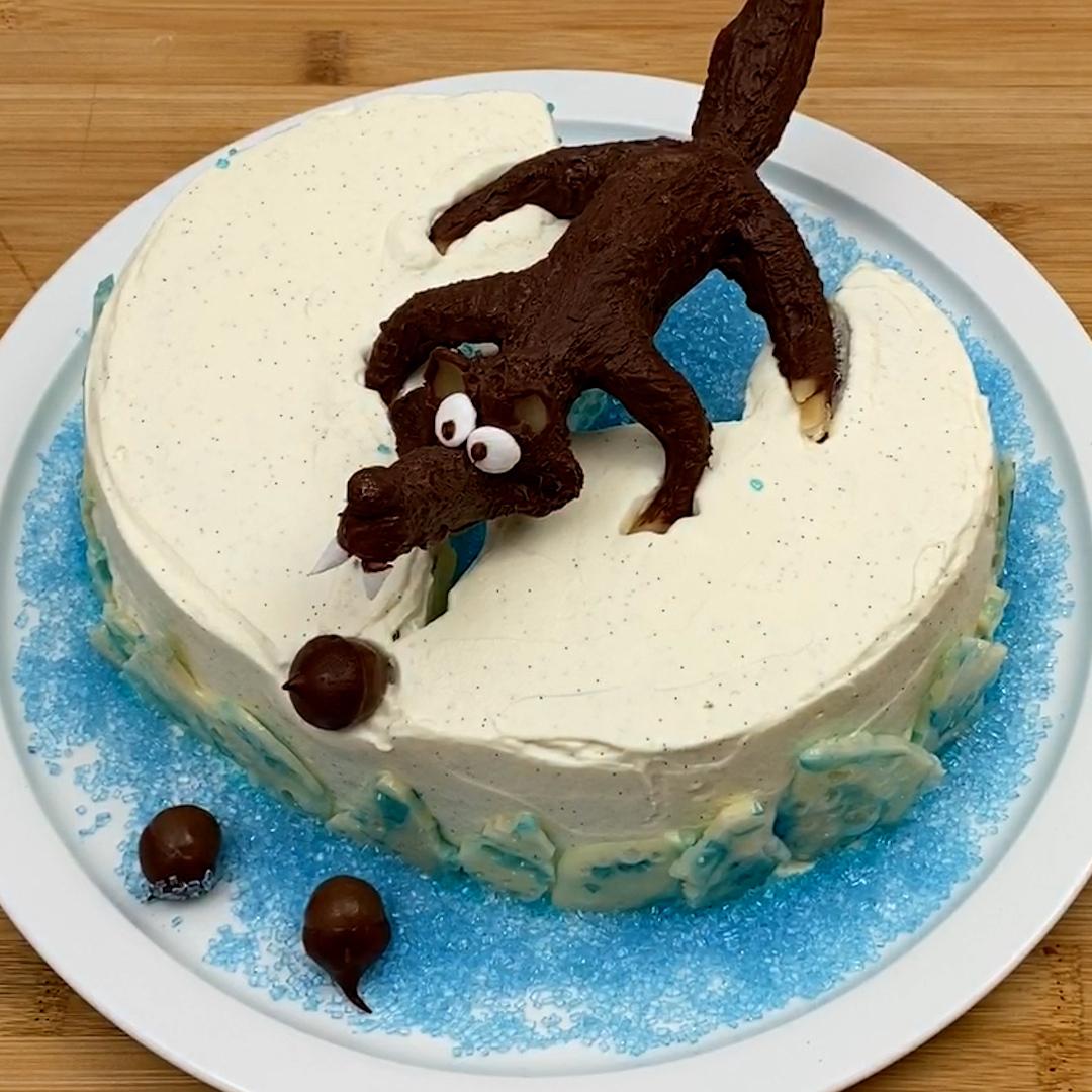 Gâteau dessin animé