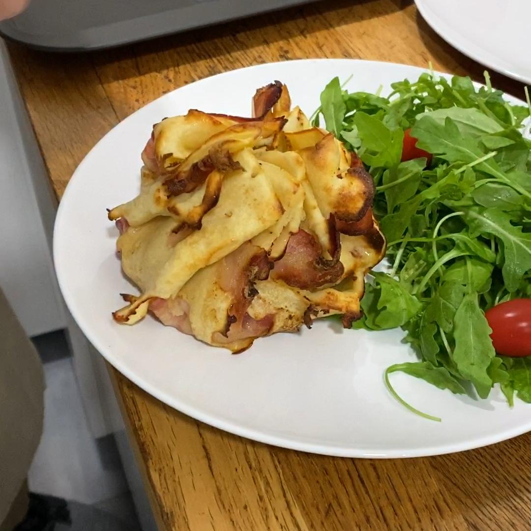 Schnitzel im Pfannkuchenmantel