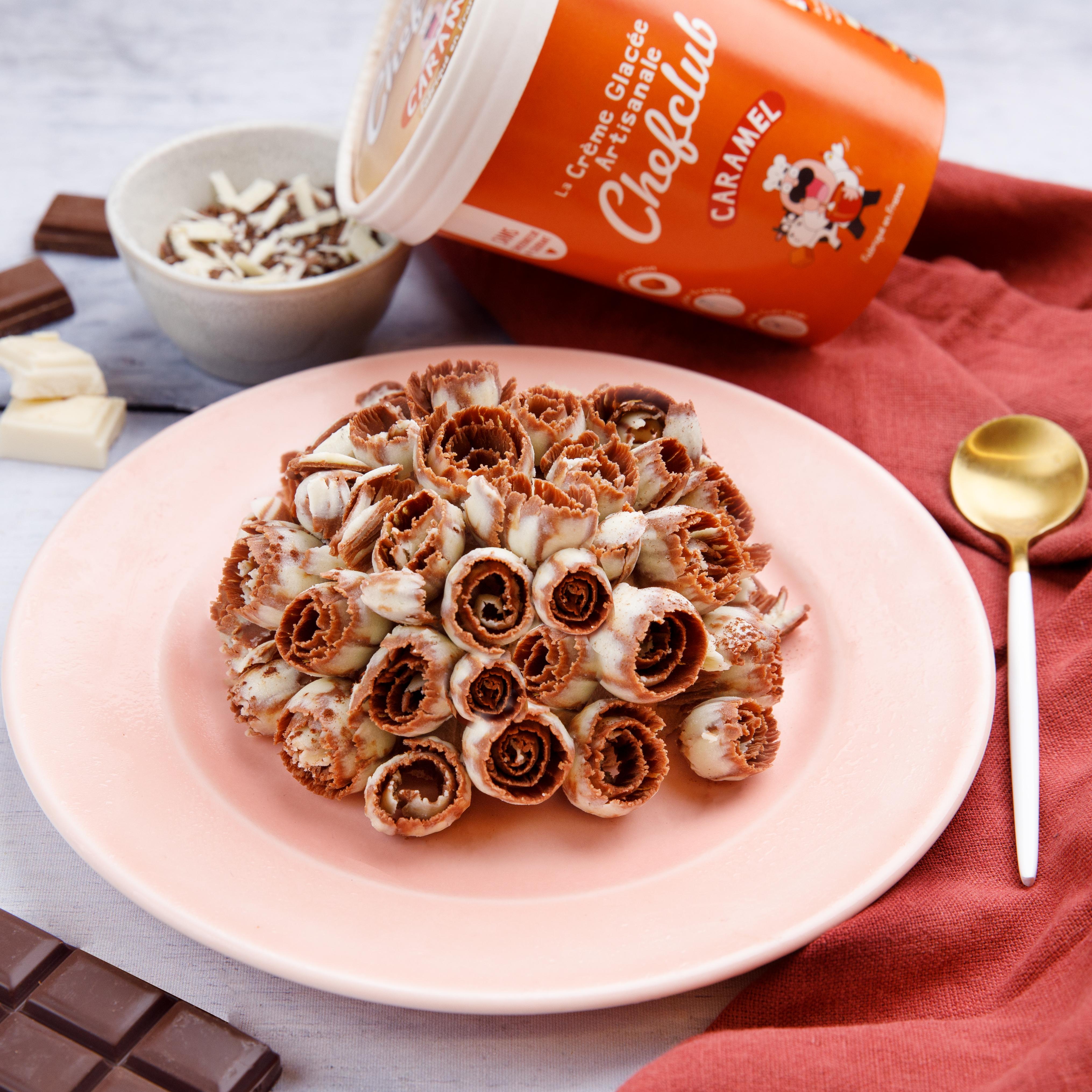 Buquê de flores de chocolate