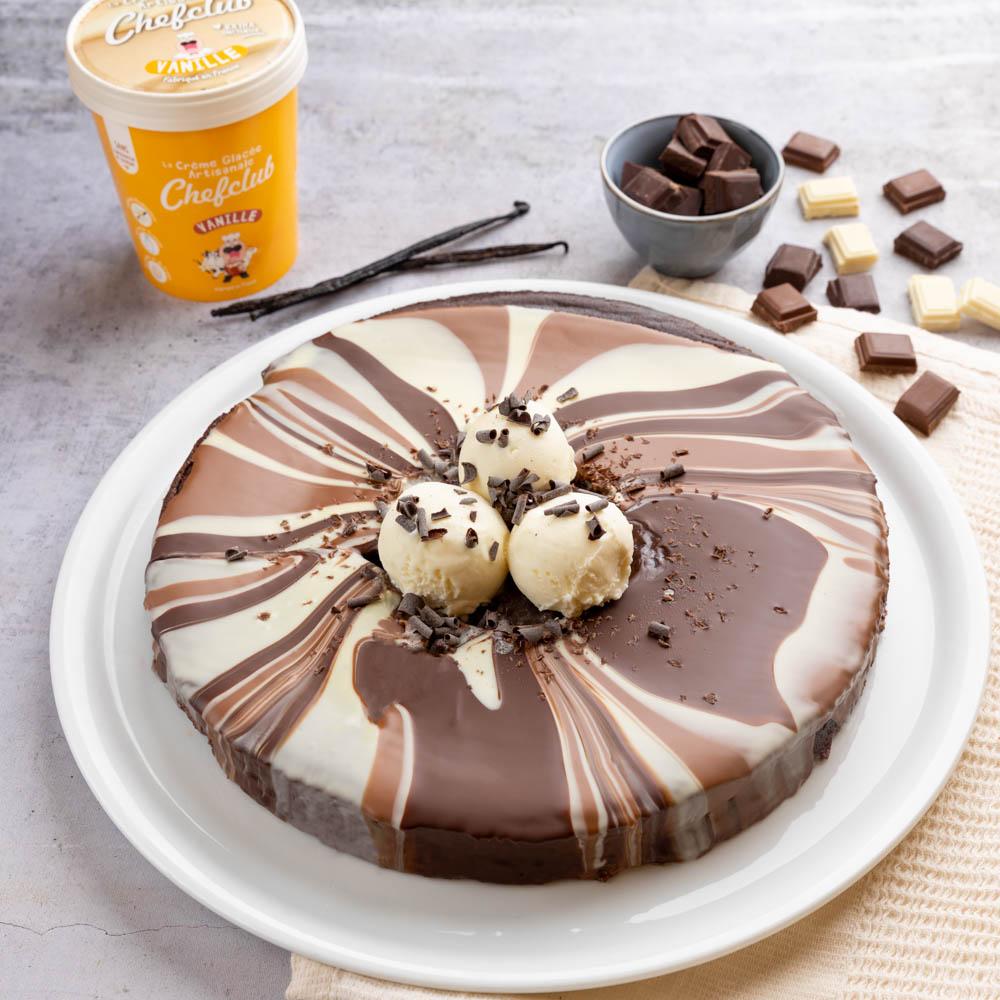 Bolo gelado três chocolates