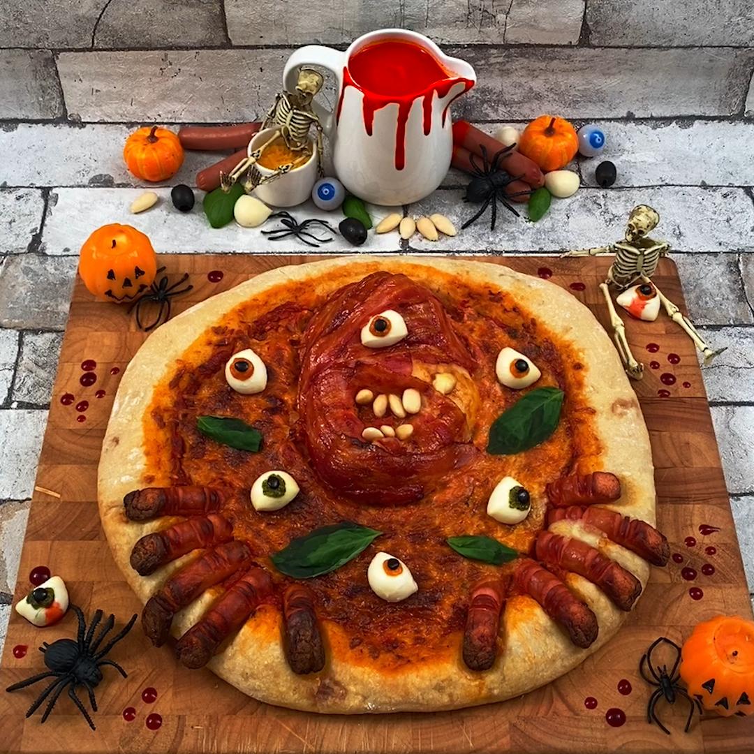 Pizza de miedo!