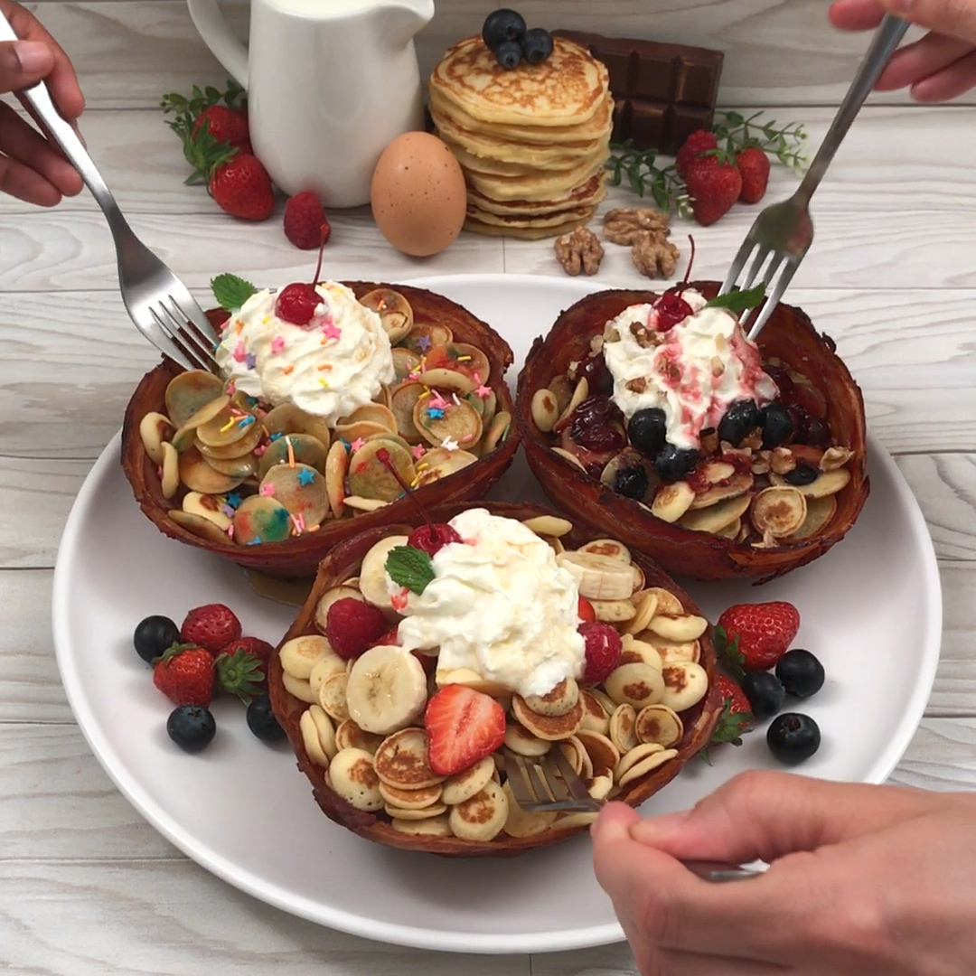 Céréales bacon pancake