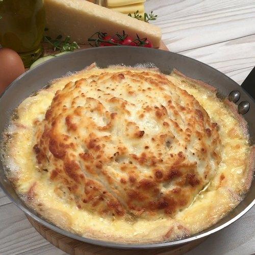 Spaguetti Carbonara a los 4 quesos!