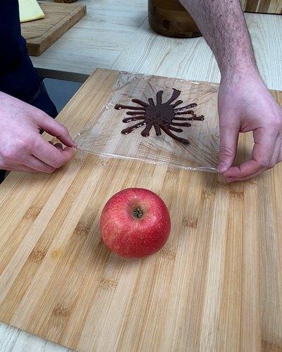 Tartelletta di mele e cioccolato