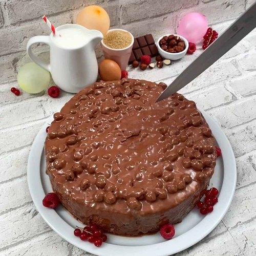 Roulé surprise au chocolat noisettes