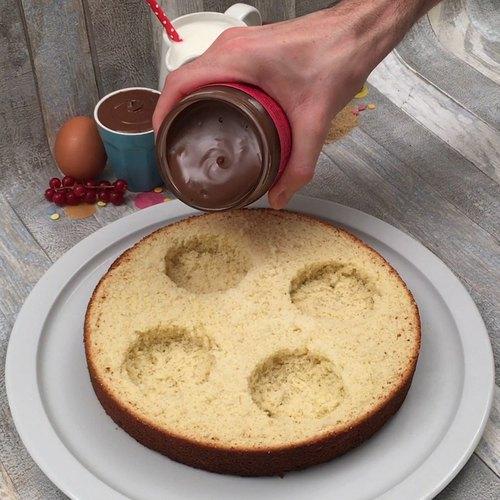 장미 초코 케이크