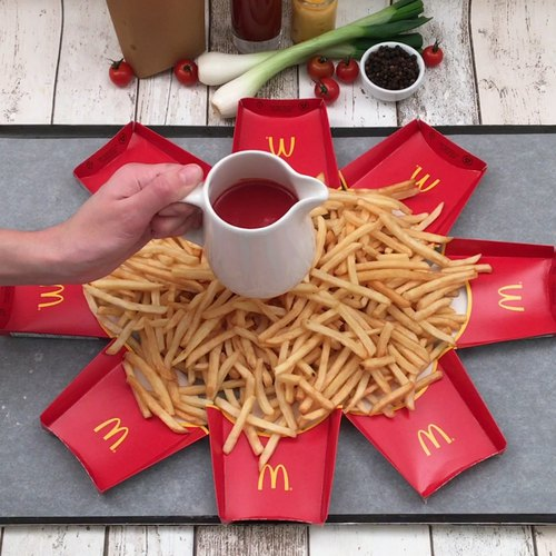 Patatas fritas estrelladas