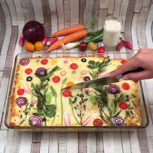 Lasagne wie gemalt