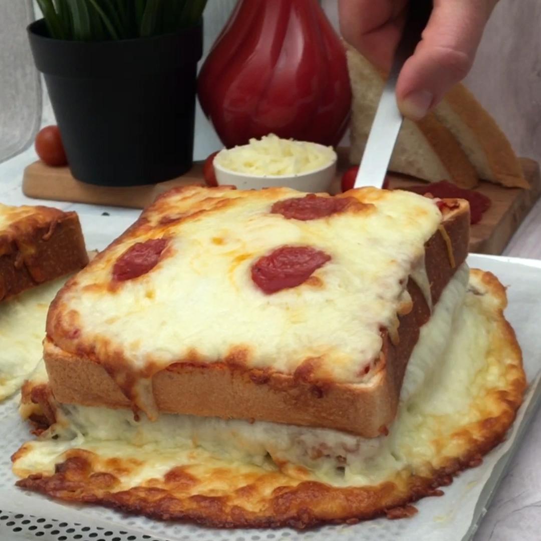 Pizza de sándwich de queso
