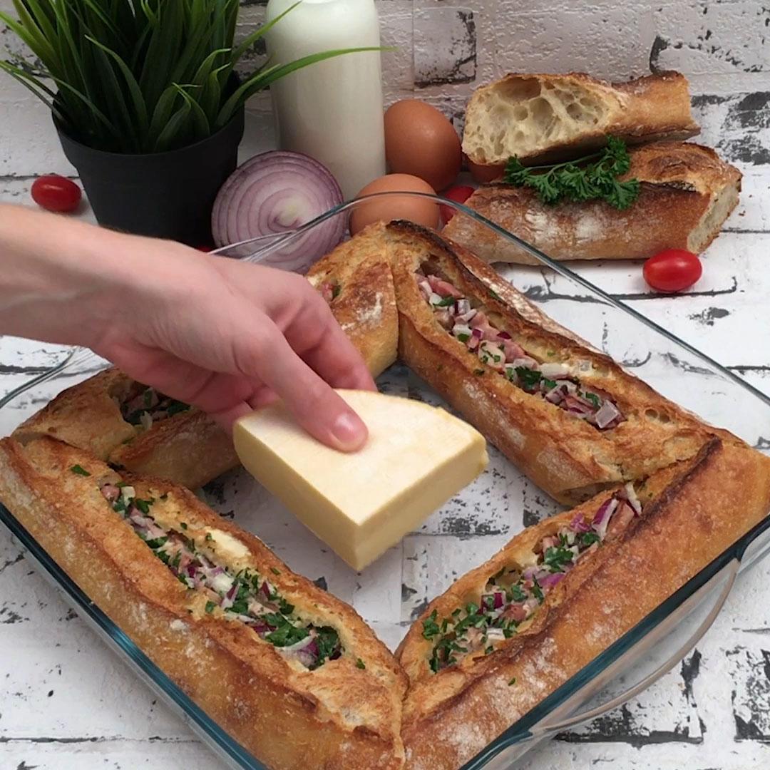 Baguette + Quiche = Baguettiche!